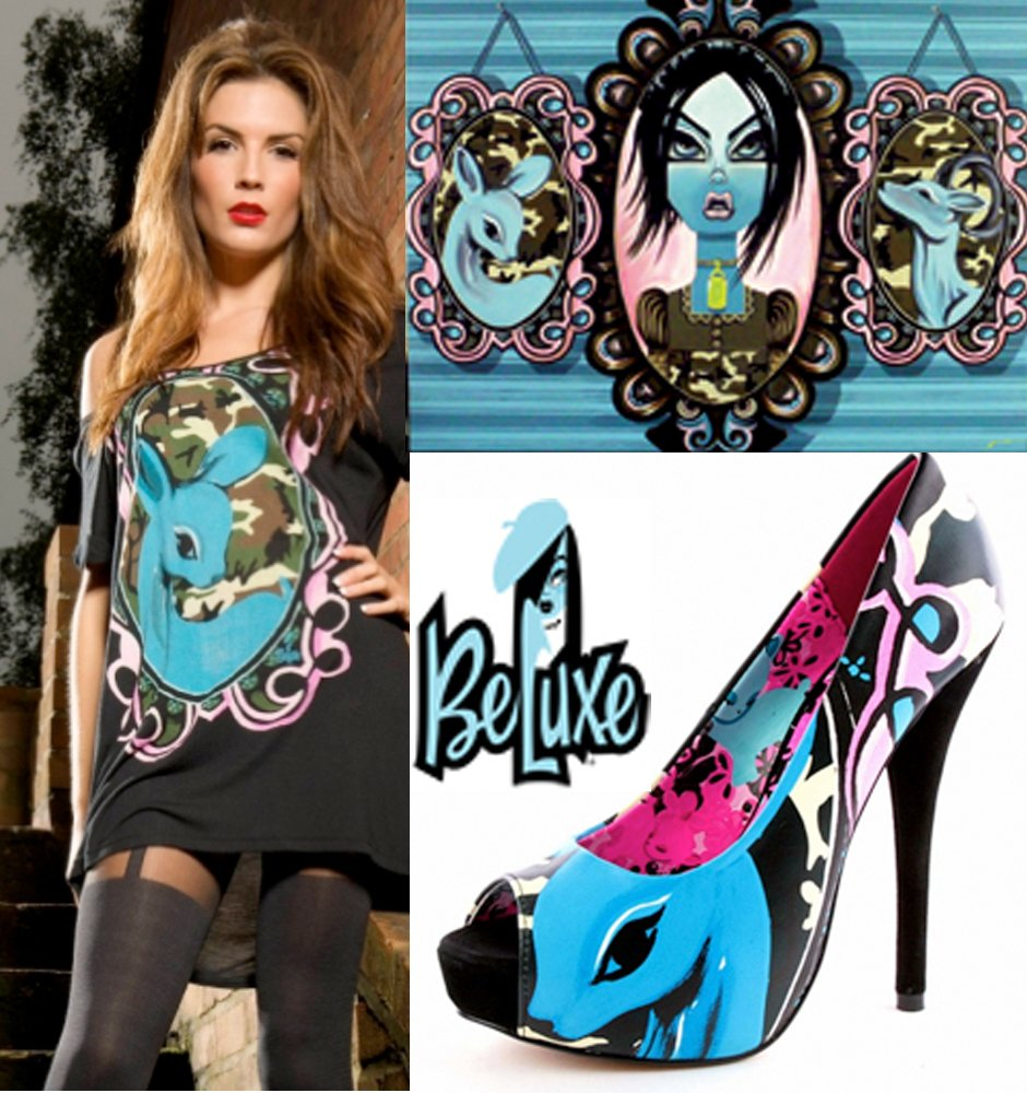 Beluxe/Iron Fist shoe and fashion tee