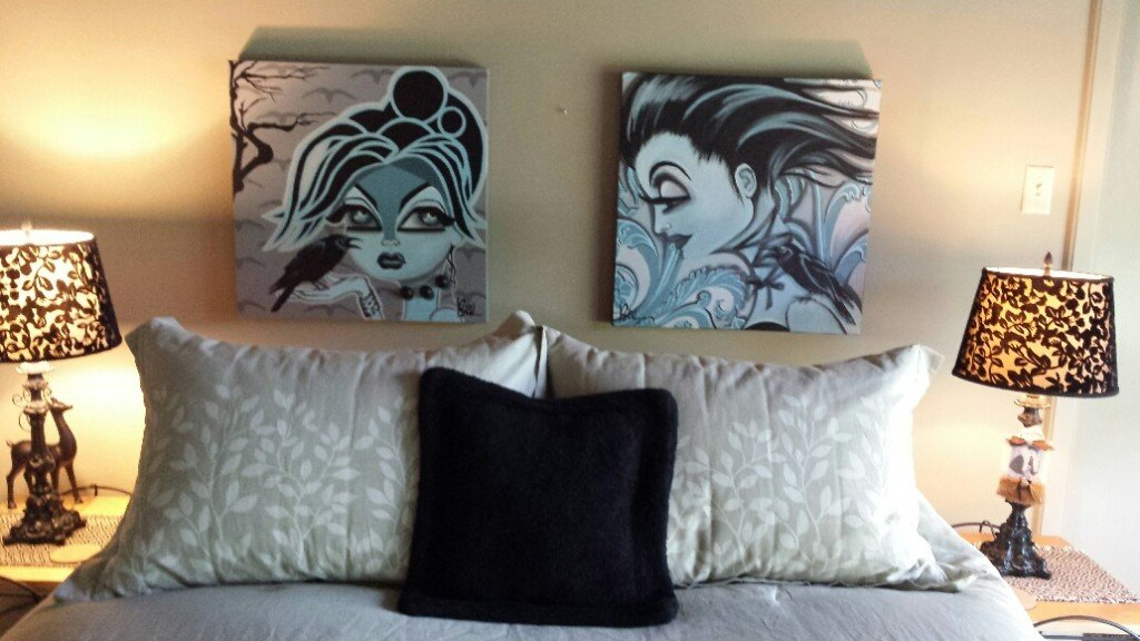 The Crow's Nest theme AirBnB room at Beluxe HQ.