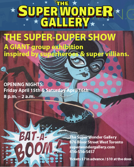 A selection of Bev Hogue creations will be on exhibit at Super Wonder Gallery starting April 15.