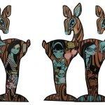 Bev Hogue deer sculpture